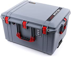 Pelican Silver & Red 1637 NO Foam Air case. Comes with Wheels.