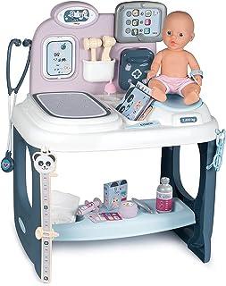 Smoby - Baby Care - Centre de Soins - Pour Poupons et Poupées - Tablette Electronique + 1 Poupon Fonction Pipi Inclus - 28...