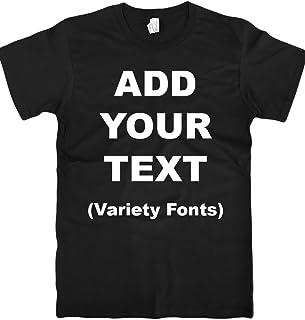 Custom T Shirts Ultra Soft Add Your Text for Men & Women Unisex Cotton T Shirt