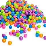 LittleTom Pelotas multicolores de plástico Ø5,5cm de diámetro | 50 pequeñas Bolas de colores...