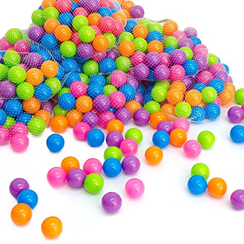 LittleTom Pelotas multicolores de plástico Ø5,5cm de diámetro | 50 pequeñas Bolas...