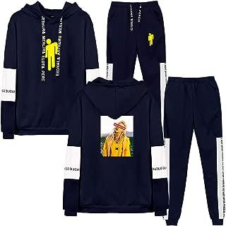 Chándal Sudadera con Capucha de Estilo clásico Traje de Moda Sudaderas con Capucha Unisex Conjunto de Pantalones Ropa Casual de Hip-Hop para jóvenes