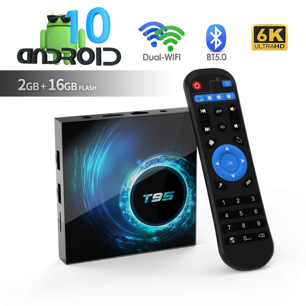Android TV Box, TUREWELL T95 Android 10.0 Allwinner H616 Quadcore 2GB RAM 16GB ROM Mali-G31