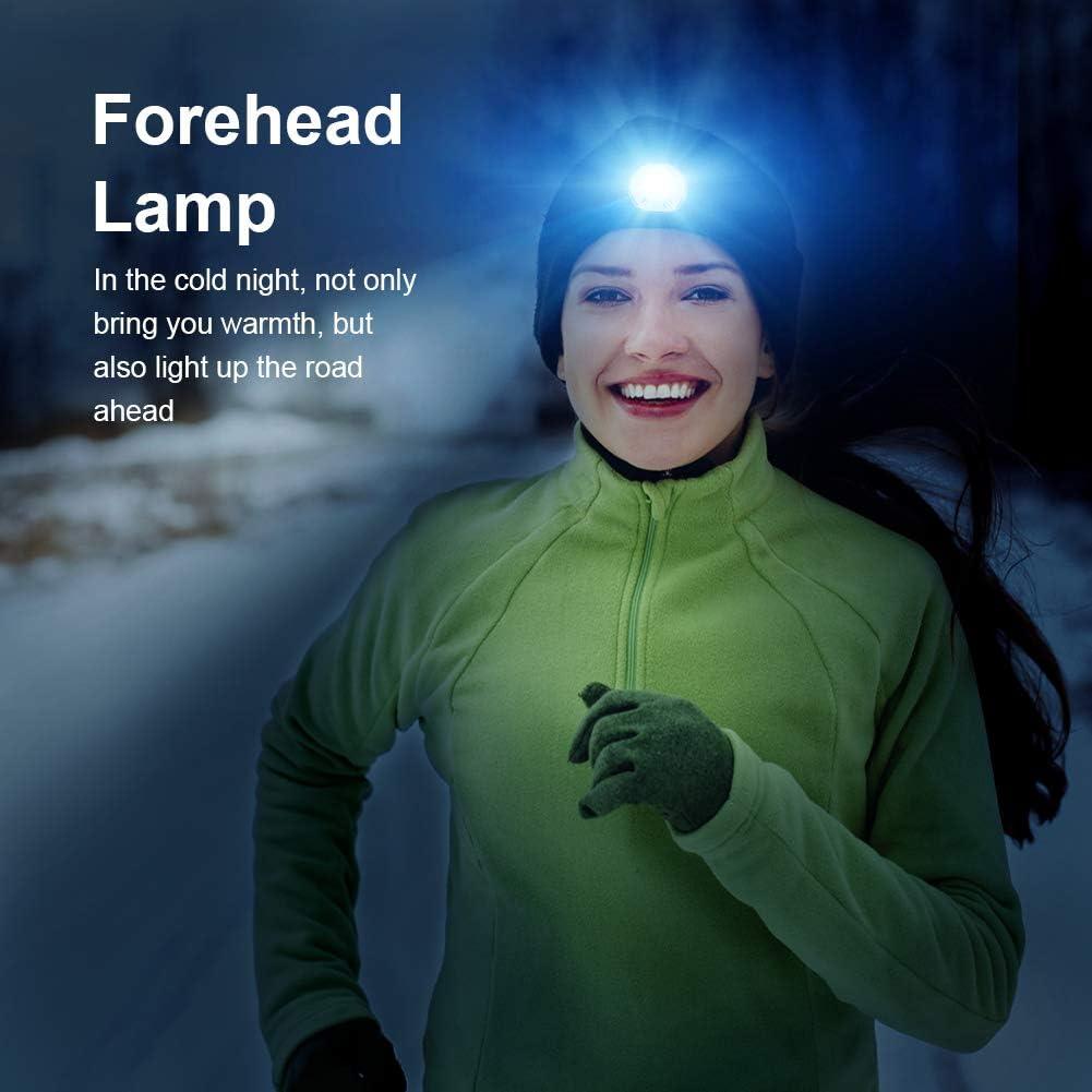 Bonnet de Musique Bluetooth,LED Bluetooth Bonnet Lumineux USB Rechargeable Musical Running Chapeau de la Lumi/ère pour Ski Randonn/ée Camping V/élo