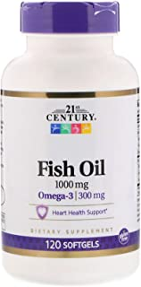 21st Century Fish Oil, 1,000 mg, 120 Softgels