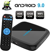 $39 » TV Box Android 9.0, TUREWELL V3 Android Box RK3318 Quad-core 4GB RAM 32GB ROM Support 2.4G/5G Dual-Band WiFi H.265 4K Ultra HD HDMI 2.0 Ethernet Smart Streaming Media Player TV Box