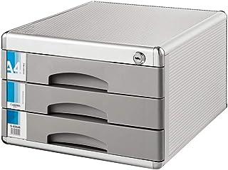 Armoire de Classement Classeur de bureau Boîte de rangement Mobilier de bureau verrouillables de bureau Classeur 3 tiroirs...