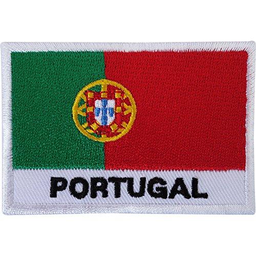 Aufnäher / Bügelbild, Motiv: Portugal-Flagge, bestickt