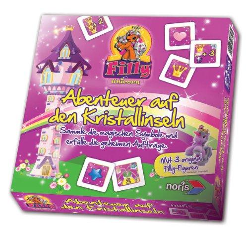 Noris 606017358 - Filly Unicorn, Abenteuer auf den Kristallinseln, Kinderspiel