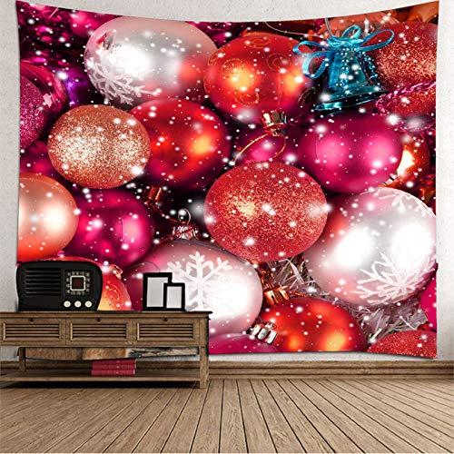 Aimsie - Tapiz para pared (poliéster, 350 x 256 cm), diseño de campana de Navidad