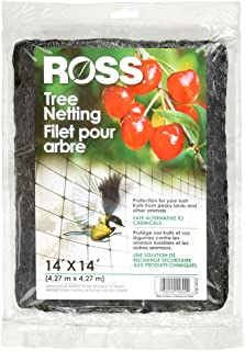 Ross 15624 038398556243 Use Netting to Protect Trees from Birds and, 14 feet x 14 feet, Black