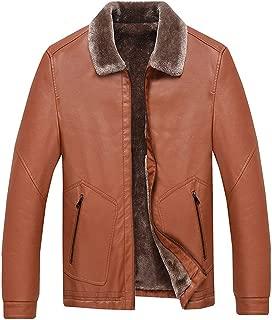 wuliLINL Men's PU Faux Leather Zipper Jacket Long Sleeve Casual Outwear Coat