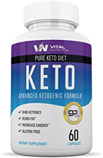 Pure Keto Diet Pills - Ketosis Supplement to Burn Fat Fast - Ketogenic Carb Blocker - Best Keto Diet Pills for Women and M...