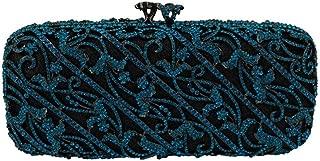 for Party Rhinestone Dinner Bag Lady Handmade Bags Elegant Banquet Clutch Bag Shoulder Chain Bag Dress Hard Shell Gift Wedding (Color : Green, Size : M)
