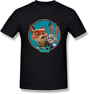 SEagleo Men's Zootopia Nick Wilde & Judy Hopps Photo Tshirts