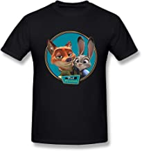 SEagleo Men's Zootopia Nick Wilde & Judy Hopps Photo Tshirts