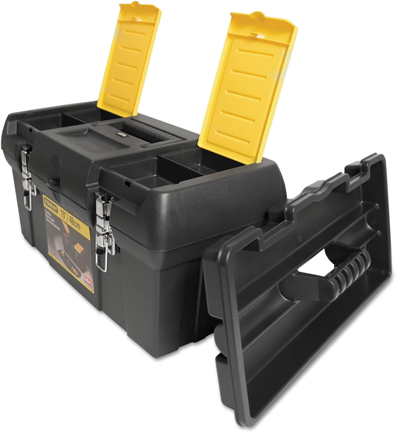 Stanley 019151M Series 2000 Free shipping anywhere in the nation Toolbox w Lid Max 43% OFF Compartments Tray Two