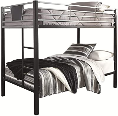 Signature Design by Ashley B106-59 Dinsmore Bed, Twin Over Twin, Black