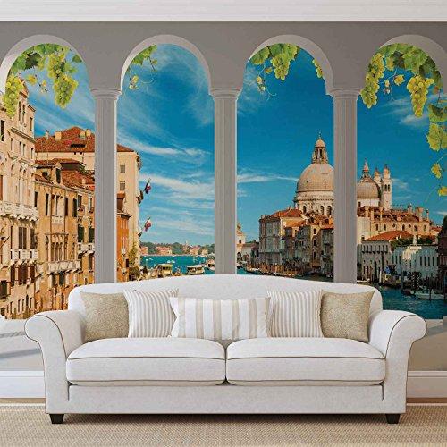 Venedig-Kanal Arches - Forwall - Fototapete - Tapete - Fotomural - Mural Wandbild - (2354WM) - XL - 254cm x 184cm - Papier (KEIN VLIES) - 2 Pieces