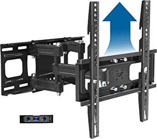 Full Motion TV Wall Mount Bracket Height Setting Dual Swivel Articulating Arms Extension Tilt Rotation, JUSTSTONE Fits Mos...