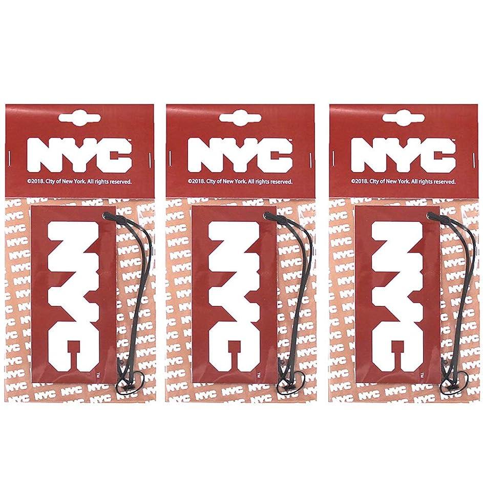 最小化する服を着る何かNYC ルームフレグランス エアーフレッシュナー 吊り下げ型 ロゴ ホワイトムスク OA-NYC-1-1 車用芳香剤 (3)