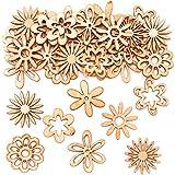 Mini Sagome in Legno Fiori Baker Ross (confezione da 45)- Articoli creativi per i bambini da realizzare e decorare.