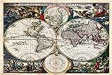 YANCONG Puzzles 500 Piezas, Maravillosos Mapas del Hemisferio Antiguo del Mundo
