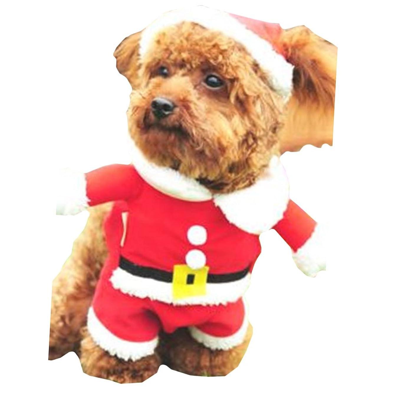 バンガロースプーンバラエティ【 サイズ 選択可 】 犬 猫 用 クリスマス 服 サンタクロース コスプレ 衣装 ニット サンタ (S)