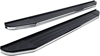 Steelcraft 155120 STX100 Series Running Boards Incl. Mounting Brackets Hardware Black/Stainless Steel STX100 Series Running Boards