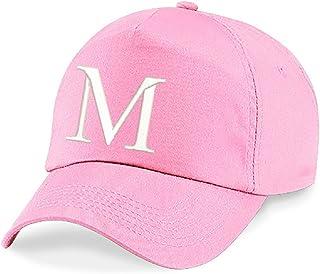 4sold Unisex bindemössa babymössa pojkar flickor mössa baseballkeps rosa hatt barn keps alfabet A-Z