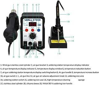 Estación de soldadura 8786d soldador estación de reparación soldadura SMD aire caliente pistola 2 in 1