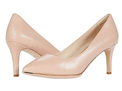 Cole Haan Grand Ambition Pump (75 mm) (Mahogany Rose Leather/Dark Natural Edge Tonal/Brushed Gold) Women
