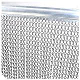 Fy-Light 90 * 210 cm Cortina Cadena Aluminio, Cortinas para Puertas Exteriores Cortina de Metal mosquitera Pantalla de Metal Insectos Moscas Persianas Pantalla de Cortina para Control de Plagas