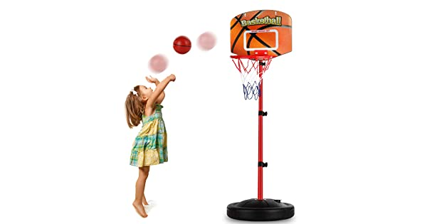 BESTTY Toddler//Kids Replacement Mini Toy Basketball Rubber Basketball for Kids,Teenager6.29 Basketballs 3PCS with Pump