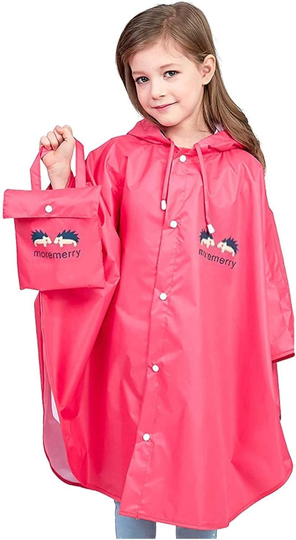 Moonite Rain Coat for Boys & Girls - Waterproof Rain Coat Coverall,Kids Poncho