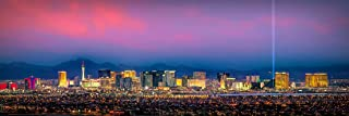 Las Vegas Skyline PHOTO PRINT UNFRAMED DUSK COLOR City Downtown 11.75 inches x 36 inches Photographic Panorama Poster Picture Standard Size