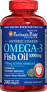 Best puritan's pride omega-3 fish oil 1000 mg Reviews
