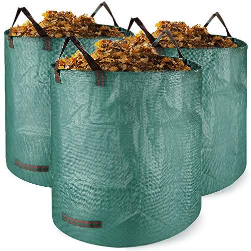 Bolsas para desechos de jardín 3 PCS Saco para residuos Bolsas de Basura de jardín y Saco de jardín Extra Resistente Plegable Bolsas de Jardin Hechas de Tela de Polipropileno(PP)