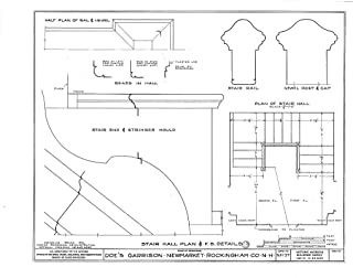 Historic Pictoric Blueprint Diagram HABS NH,8-NEWM,1- (Sheet 12 of 23) - Doe Garrison, Lamprey River & Great Bay, Newmarket, Rockingham County, NH 44in x 32in