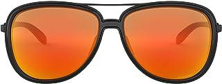 Ray-Ban Women's Split TIME 412904 Sunglasses, Matte Black/Prizmruby, 58