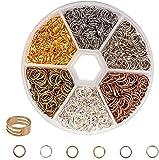 FLZONE Biegeringe Offene,6 Farben 2400 Stück Gemischte Offene Ringe Biegeringe Spaltringe Zum Anschließen Von Halsketten,DIY Schmuckherstellung-7MM