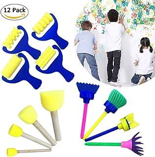 12pcs /Set DIY Flower Graffiti Sponge Art Supplies Brushes Seal Painting Tools Creative Funny Drawing