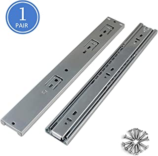 14inch 100 LB Capacity Full Extension Soft/Self Close Ball Bearing Side Mount Drawer Slides, 100lbs Load Capacity Cabinet Drawer Rails-1 Pair