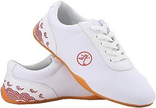 JINFAN Chaussures d'arts Martiaux Chaussures De Tai Chi pour Femmes Hommes Chaussures De Taekwondo Unisexe Chaussures d'ar...