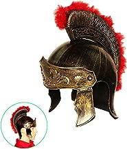 dazzling toys Roman Legion Gladiator Helmet Hat -For Big Kids, Teens and Adults.,Gold,Medium
