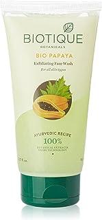 Biotique Bio Papaya Exfoliating Face Wash for All Skin Types, 50mL (PACK OF 2)