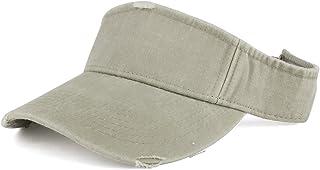 2bf0c891a2542 Frayed Pigment Dyed Garment Washed Distressed Adjustable Visor Cap