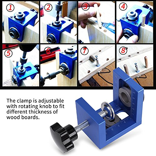 Plantilla para tacos Guía para taladrar agujeros para tacos de madera Kit de brocas para taladro Carpintería Carpintería Posicionador Herramienta de localización Carpintería Carpintería