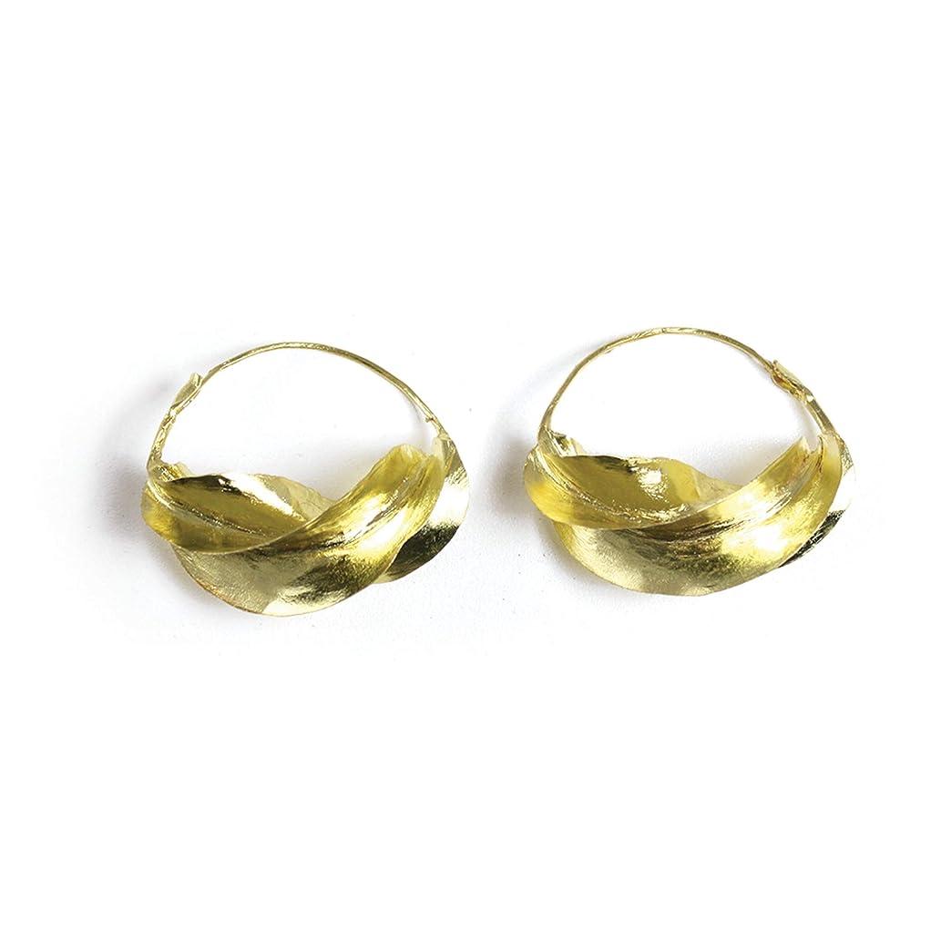 Large Fula Gold Twist Earrings - 1?