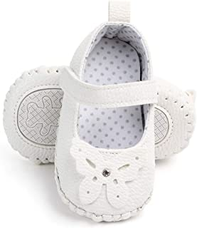 Newborn Baby Girls 3-18 Months Butterfly Cute Anti-Slip First Walkers Soft Sole Shoes